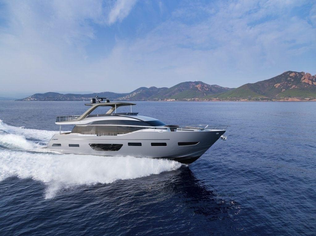 La nuova ammiraglia della gamma Flybridge Motor Yacht Y85 - in collaborazione con Olesinski e Pininfarina