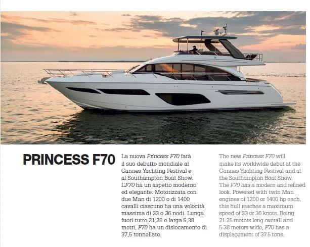 New Princess 70: ha fatto il suo debutto al Cannes Yachting Festival